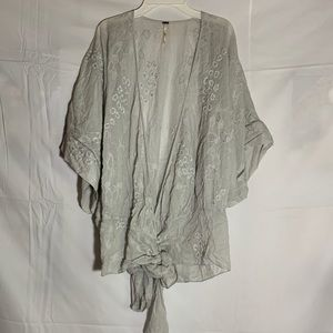 Grey free People Light weight cardigan
